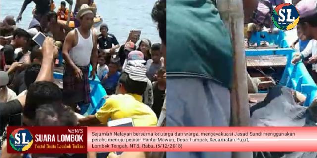 Tiga Hari Hilang Ditelan Ombak, Sandi Ditemukan Tewas di Pantai Mawun