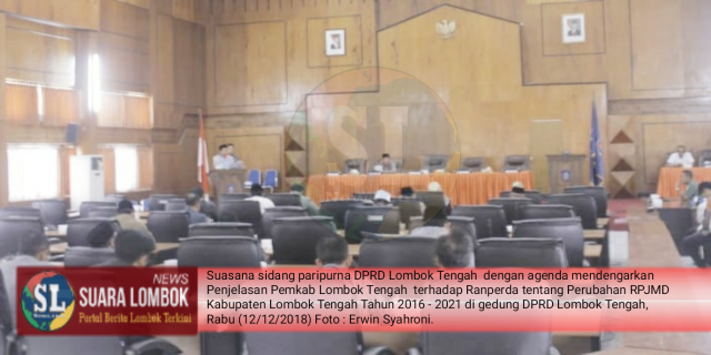 DPRD Lombok Tengah Dengarkan Penjelasan Pemerintah Terkait Perubahan RPJMD