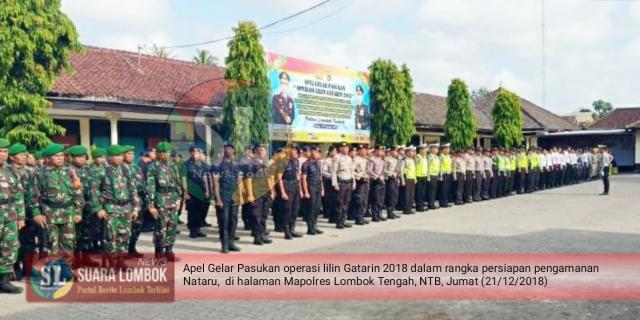 Polres Lombok Tengah  Siap Amankan Prayaan Natal dan Tahun Baru