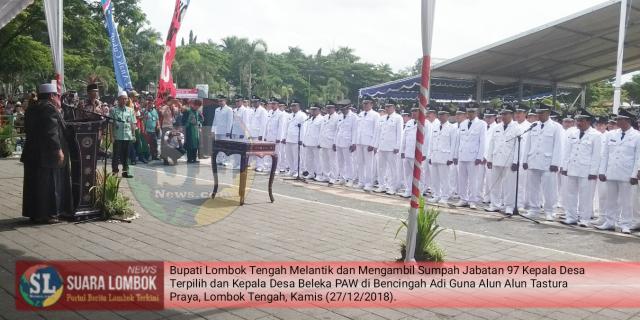 Lantik 97 Kades Hasil Pilkades Serentak dan Kades Hasil PAW, HM. Suhaili : Kades Jangan Sombong