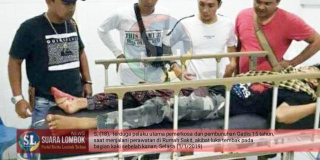 Pelaku Utama Pemerkosa dan Pembunuh Pelajar 15 Tahun di Lombok Timur Ditembak