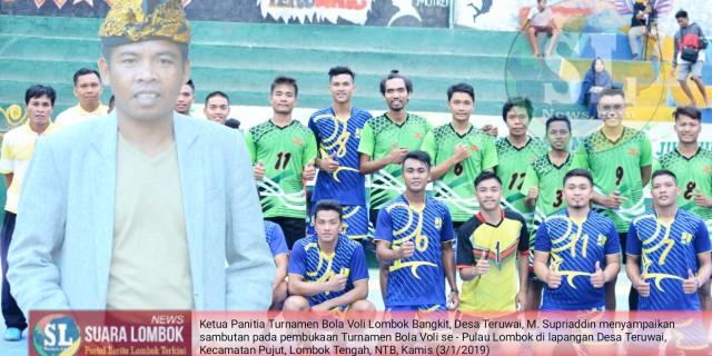 Gandeng Satgas RR dan GTS, Pemuda Desa Teruwai  Gelar Turnamen Voli Lombok Bangkit se – Pulau Lombok