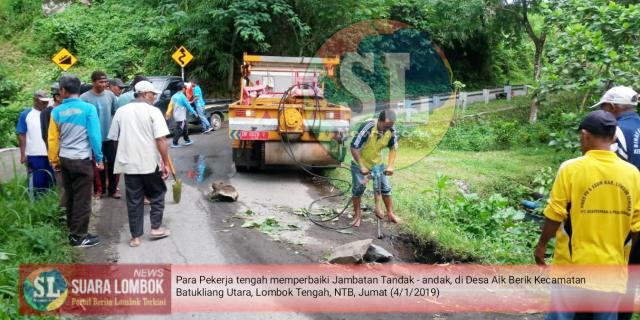 Jambatan Utama Menuju Air Terjun Benang Stokel Aman Dilintasi