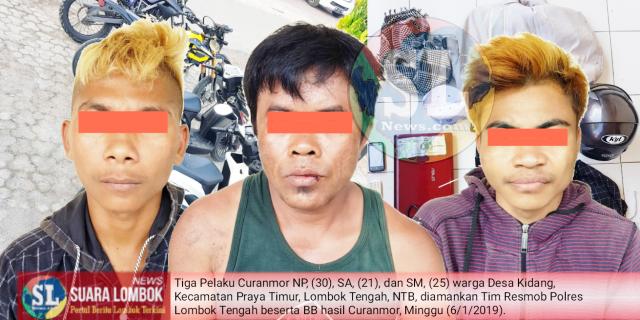Berusaha Kabur, Tiga Residivis Curanmor Asal Desa Kidang di Tembak  Polisi