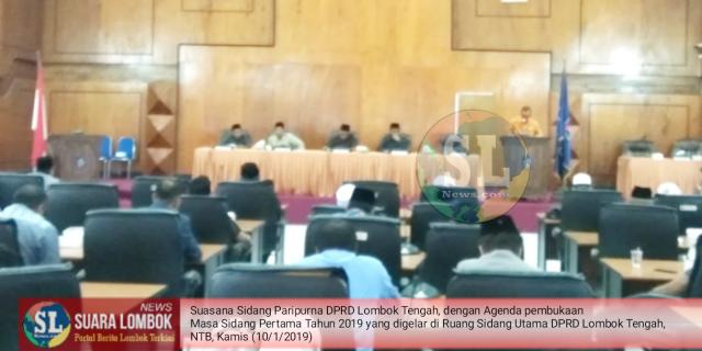DPRD Lombok Tengah Buka Masa Sidang I Tahun 2019