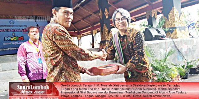 Internasional Nilai Budaya Melalui Permainan Tradisi dan Dongeng Digelar di Lombok Tengah