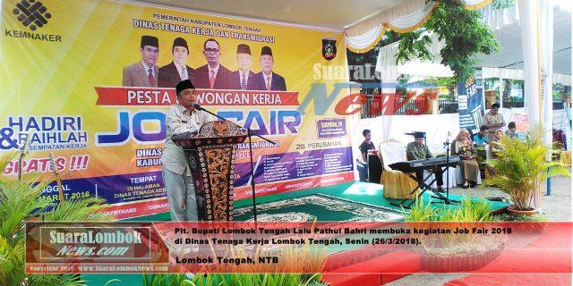 Ribuan Pencari Kerja Serbu Job Fair Lombok Tengah  2018