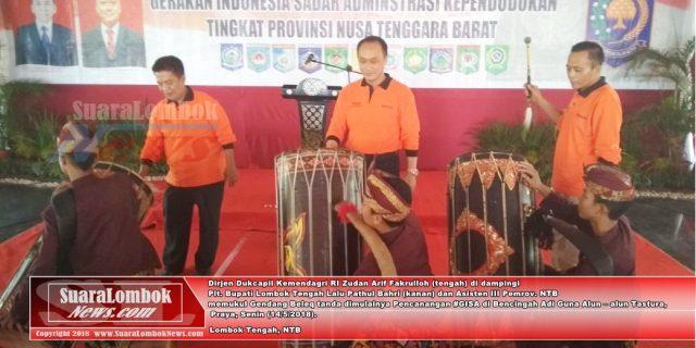 Pencanangan #GISA di NTB Digelar di Lombok Tengah, Ribuan Warga Serbu Stand KTP – el