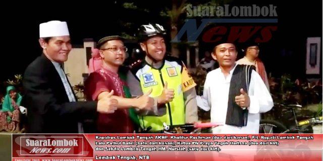 Malam Takbiran, Kapolres Lombok Tengah Gayung Sepeda
