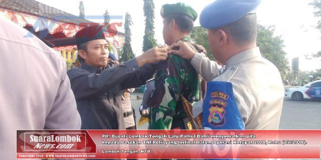 Polres Lombok Tengah Gelar Apel Pasukan Operasi Ketupat 2018