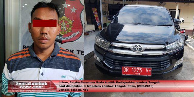 Curi  Modis Kadis Perkim Lombok Tengah, Pria Asal Desa Jago Diborgol Polisi