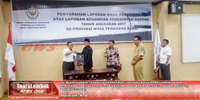 Pemkab. Lombok Tengah Terima WTP Enam Kali Berturut-turut