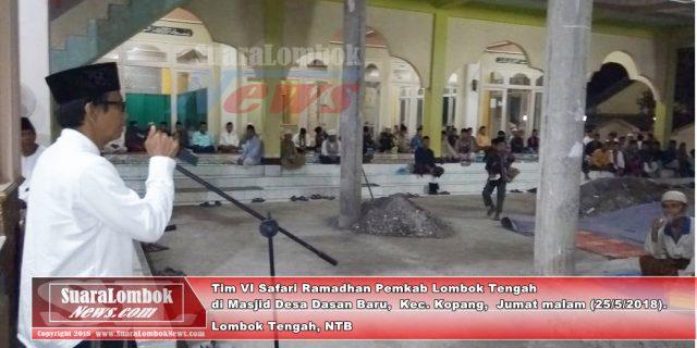 Tim VI Safari Ramadhan Beberkan Keberhasilan Pembangunan Lombok Tengah