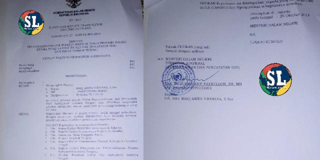 Pelantikan Kadis Dukcapil Lombok Tengah Tanpa SK Bupati