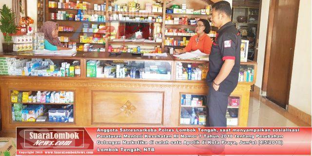 Datangi Apotek, Ini Yang Dilakukan Satresnarkoba Polres Lombok Tengah