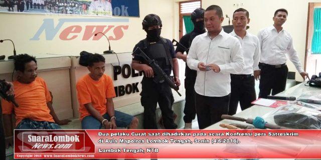 Melawan, Dua Pelaku Curas Sadis  di Kawasan Pariwisata di Door Polisi