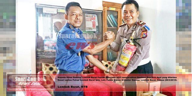 Damkar  Perkuat  Kemitraan Dengan Satlantas Polres Lombok Barat