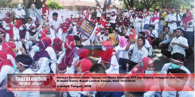 Pejabat di Lombok Tengah diduga, Intimidasi Perawat dan Bidan Sukarela