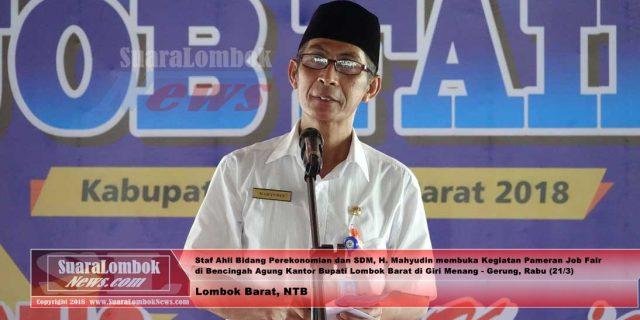 Tekan Angka TPT, Pemkab. Lombok Barat Gelar Job Fair