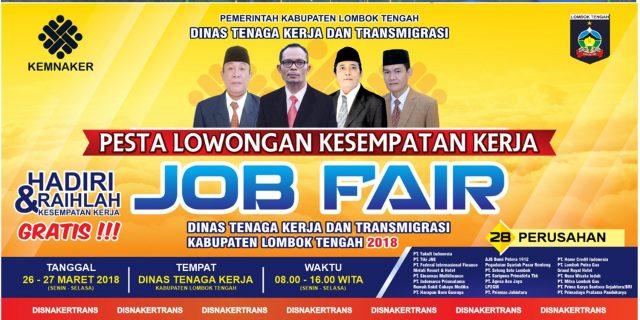 Siap – siap, 31 Perusahaan Buka Lowongan Bagi 2.745 Pekerja di Job Fair 2018