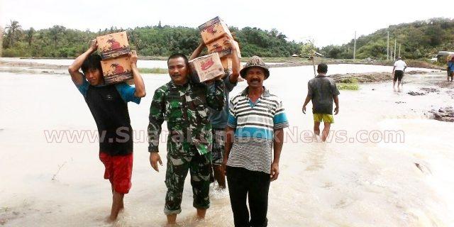 Prajurit TNI Dikerahkan Bantu Korban Banjir Peras