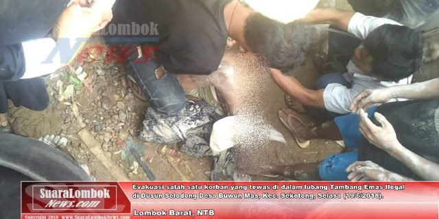 Hirup Gas Beracun, 7 Penambang Emas Ilegal di Sekotong Tewas
