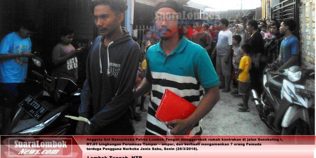 Polisi Gerebek Pesta Sabu di Perumnas Tampar – ampar, 7 Pemuda di Amankan