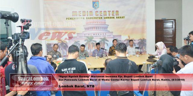 Ngopi Ngeteh Bareng Wartawan, Pjs Bupati dan Panwaslu  Akui Ada Pelanggaran Kampanye.