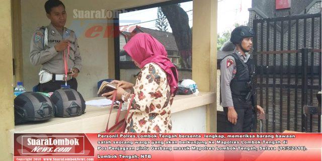 Pasca Bom di Surabaya, Polres Lombok Tengah Lakukan Penjagaan Ketat