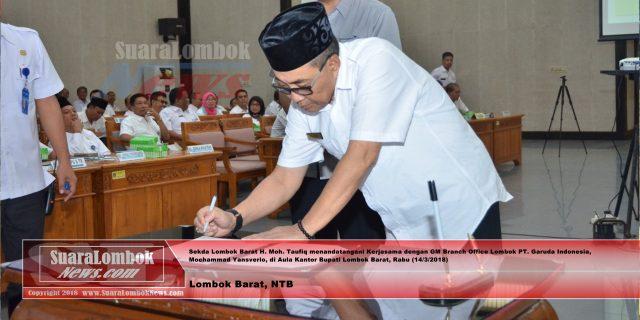 Ini Isi Kerjasama PT. Garuda Indonesia dengan Pemkab. Lombok Barat