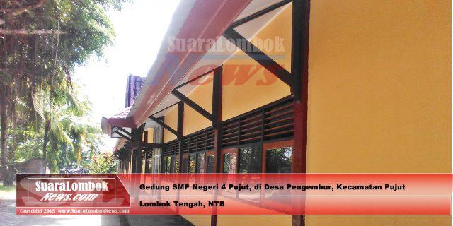 Diduga, Anggaran Rehab Gedung SMP Negeri 4 Pujut di Korupsi